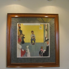 Norman Rockwell Print in the Reception Room
